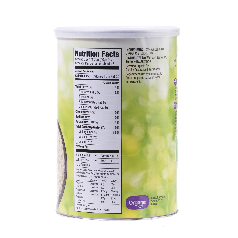 Steel Cut Oat, Organic, 24 Oz canister
