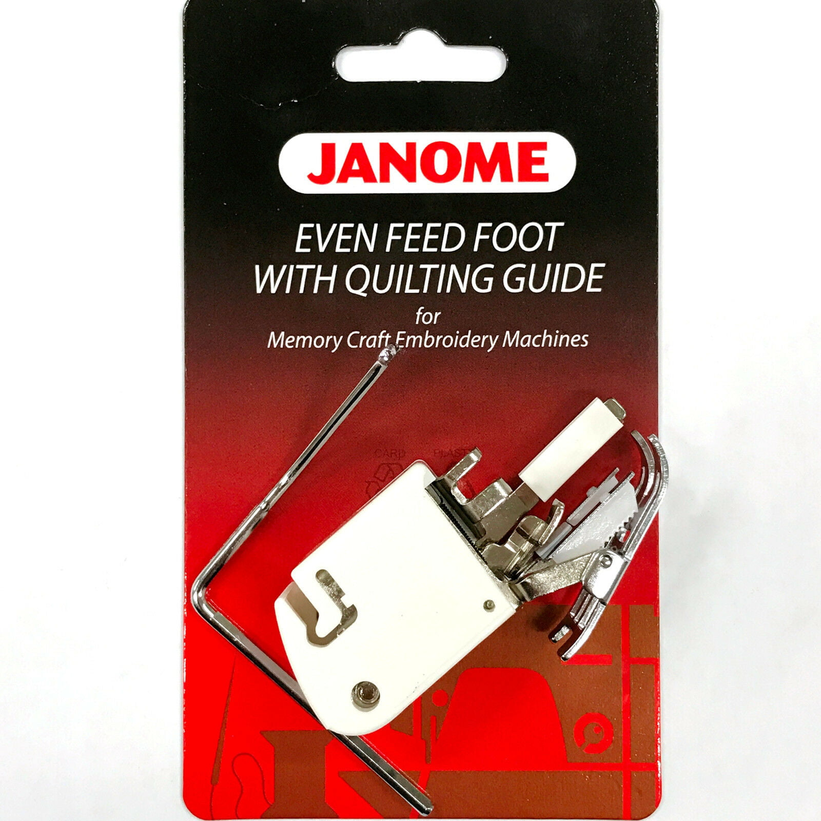 Janome Even Feed Foot with Quilting Guide Memory Craft Embroidery Machines