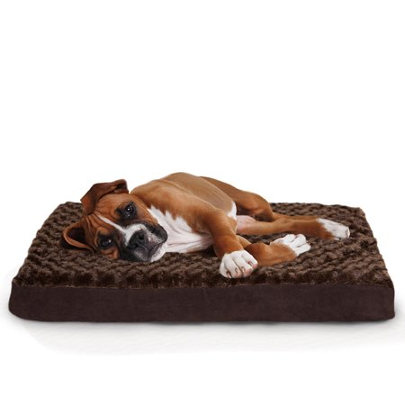 Furhaven Sm Faux Sheepskin / Suede Dlx Orthopedic Pet Bed Ma