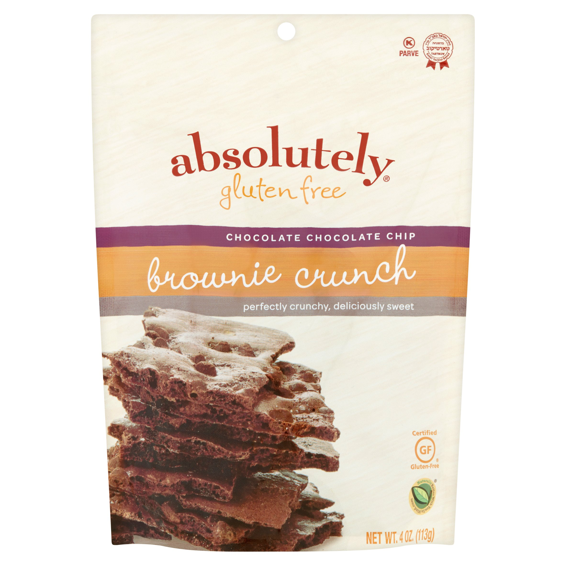 Image of Absolutely Gluten Free Chocolate Chip Brownie Crunch, 4 oz, 6 pack