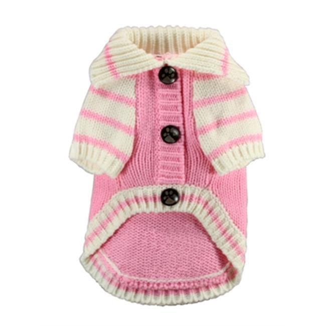 Hip Doggie HD-7CDGP-S Small HD Crown Cardigan - Pink
