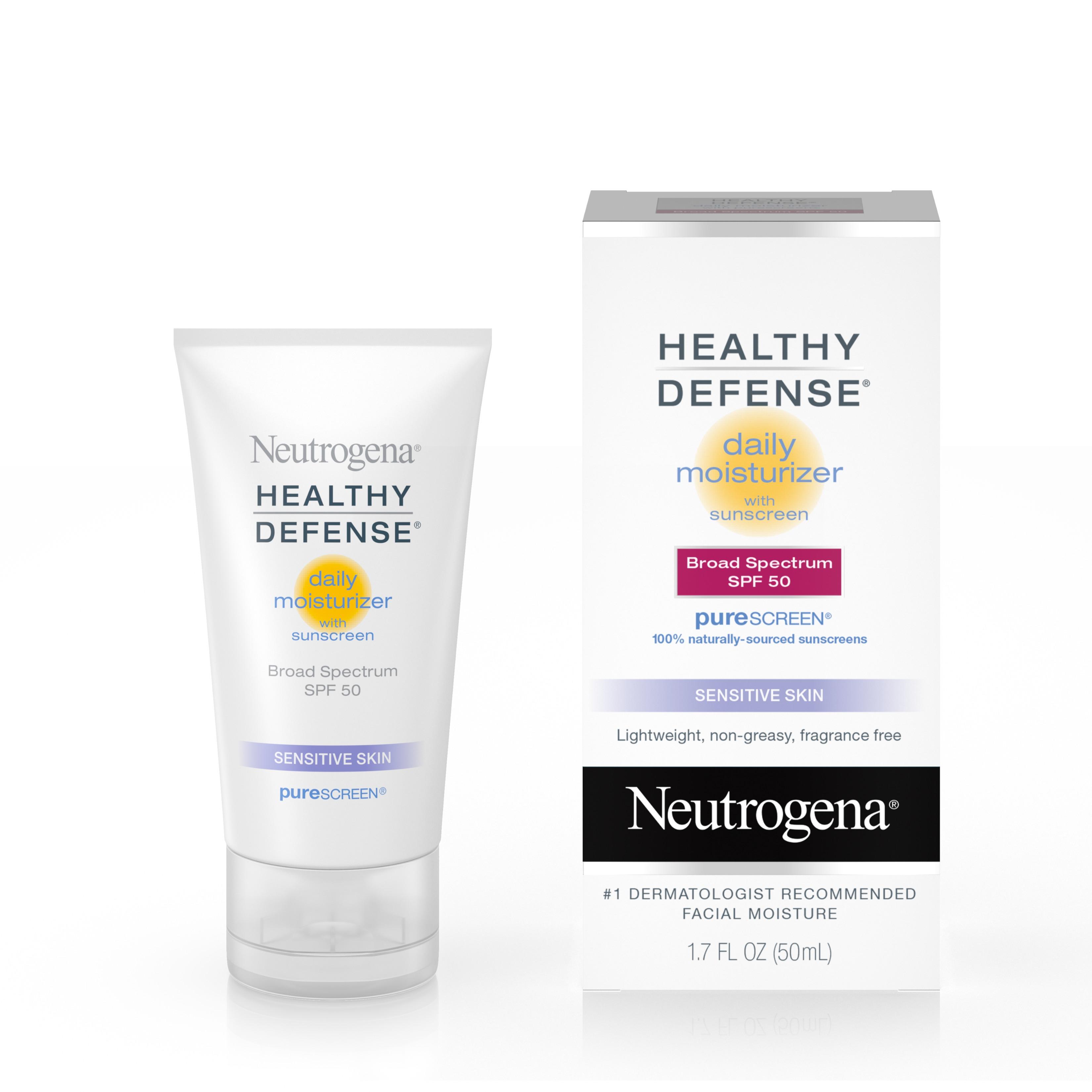 Neutrogena Healthy Defense Sensitive Moisturizer, SPF 50, 1.7 fl. oz