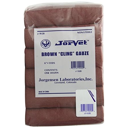Brown Gauze (Jorvet Brown Cling Gauze, 6
