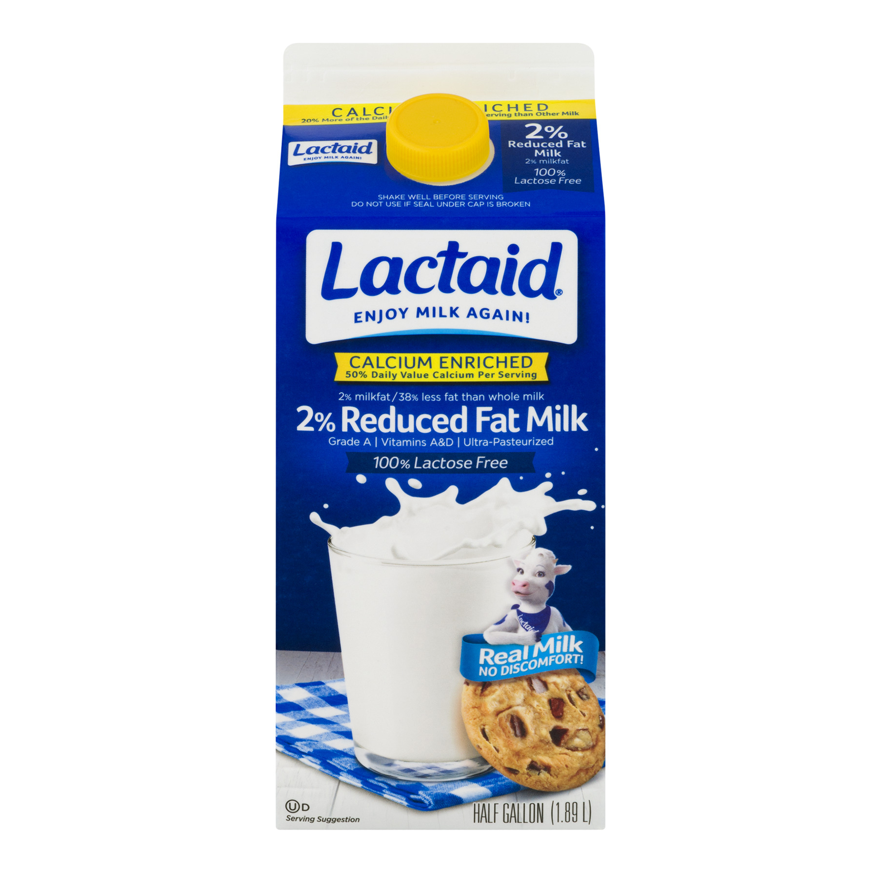 Lactaid 100% Lactose Free 2% Reduced Fat Milk, 1.89 L