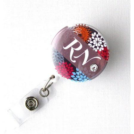 Badge Blooms ID Badge Reel - RN Mod Floral](Halloween Badge Reels)