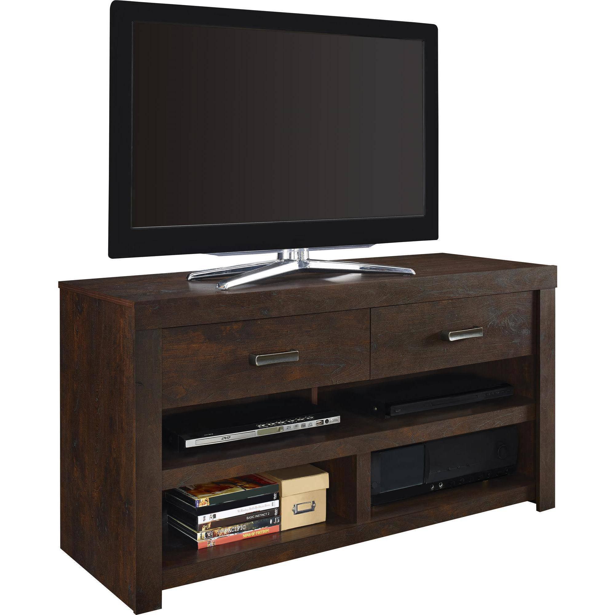 altra westbrook  tv stand dark walnut  walmartcom -