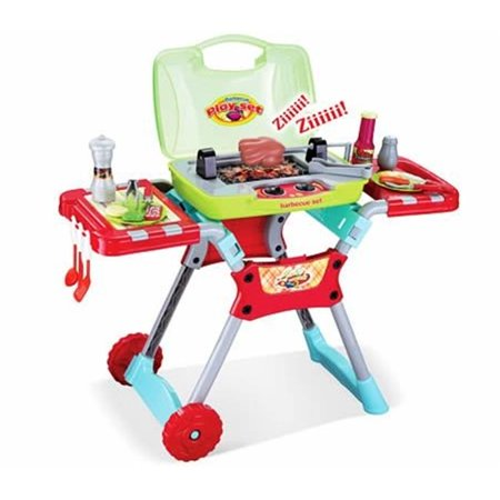 AZ IMPORT & TRADING PS50A Deluxe Kitchen BBQ Pretend Play Grill Set with Light an Sound PS50A