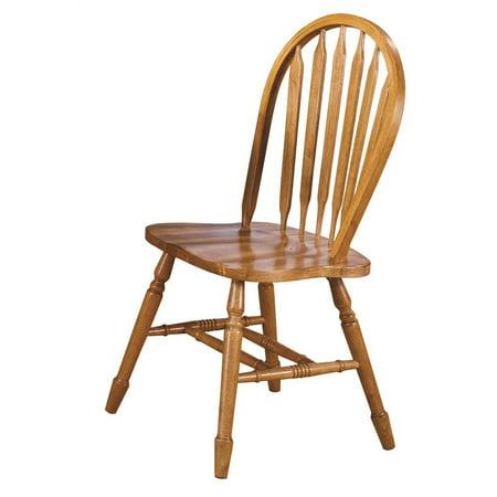 Arrow Back Dining Chair In Light Oak Set Of 2 Walmart Com
