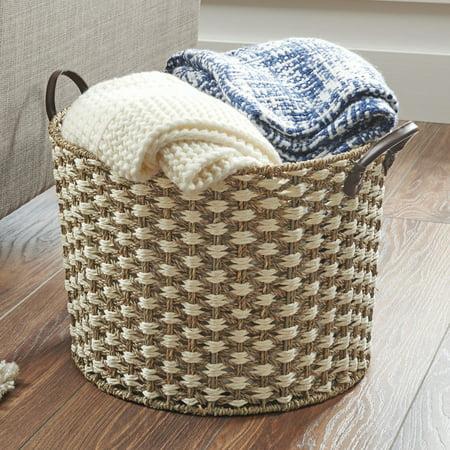 Better Homes Gardens Large Seagr Basket White