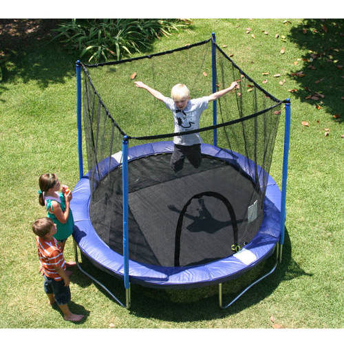 Image of Airzone 8' Trampoline Combo, Blue