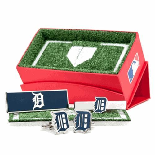 Detroit Tigers Cufflinks, Money Clip and Tie Bar Gift Set MLB