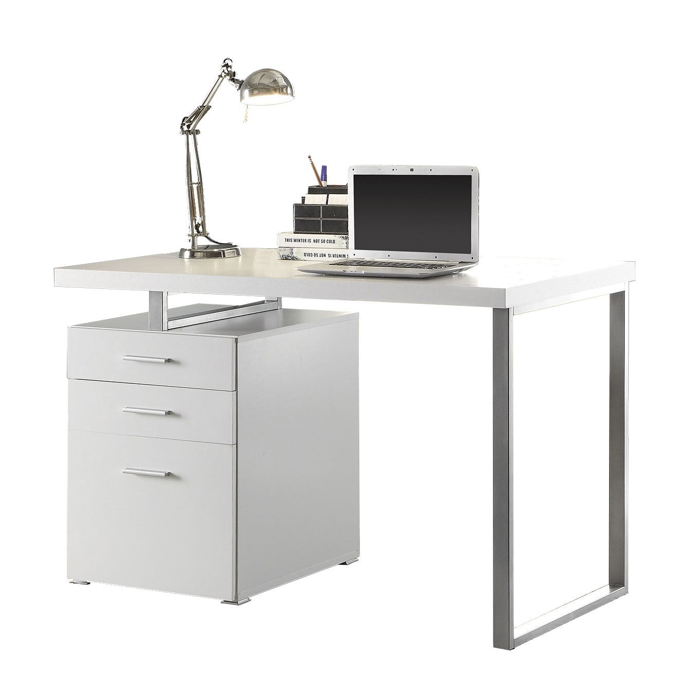 Coaster Home Furnishings Modern Contemporary Office Desk with File