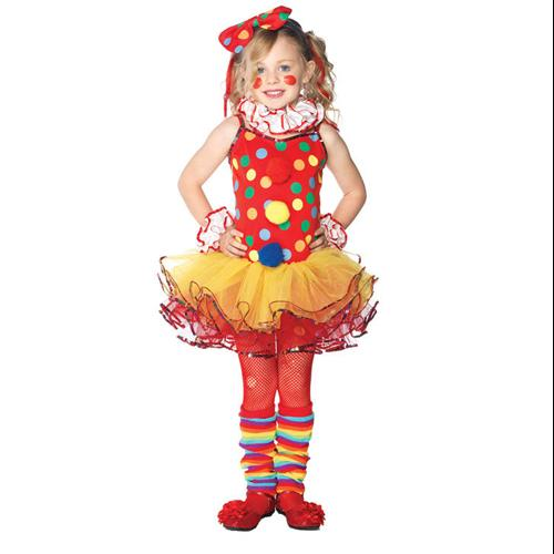 Girls Circus Clown Ballerina Child Costume XS Size 3-4