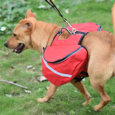 Dog Pet Backpack Carrier Bag Holder Bag for Outdoor Travel Hiking Camping Red