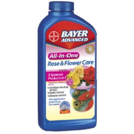 32 OZ All In 1 Rose and Flower Concentrate Provides Fertilizer Only (Bayer All In One Rose And Flower Care)