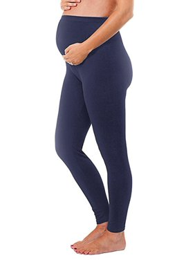 Maternity Leggings Seamless Solid Color Nursing Clothes Tights - 1, 2, and 3 Pack Gift Set - Stretch (Royal Blue, ONE SIZE FITS ALL (MATERNITY))