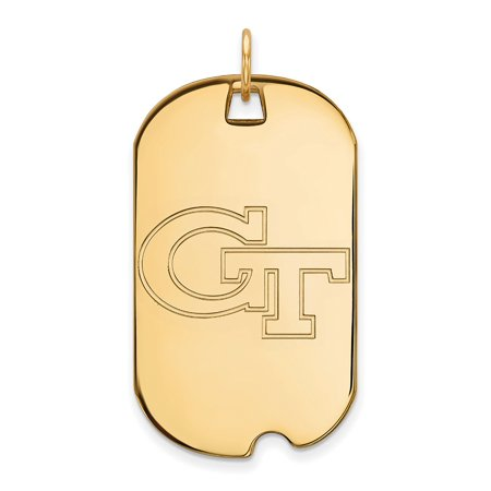 10k Yellow Gold Georgia Institute of Technology Large Dog Tag