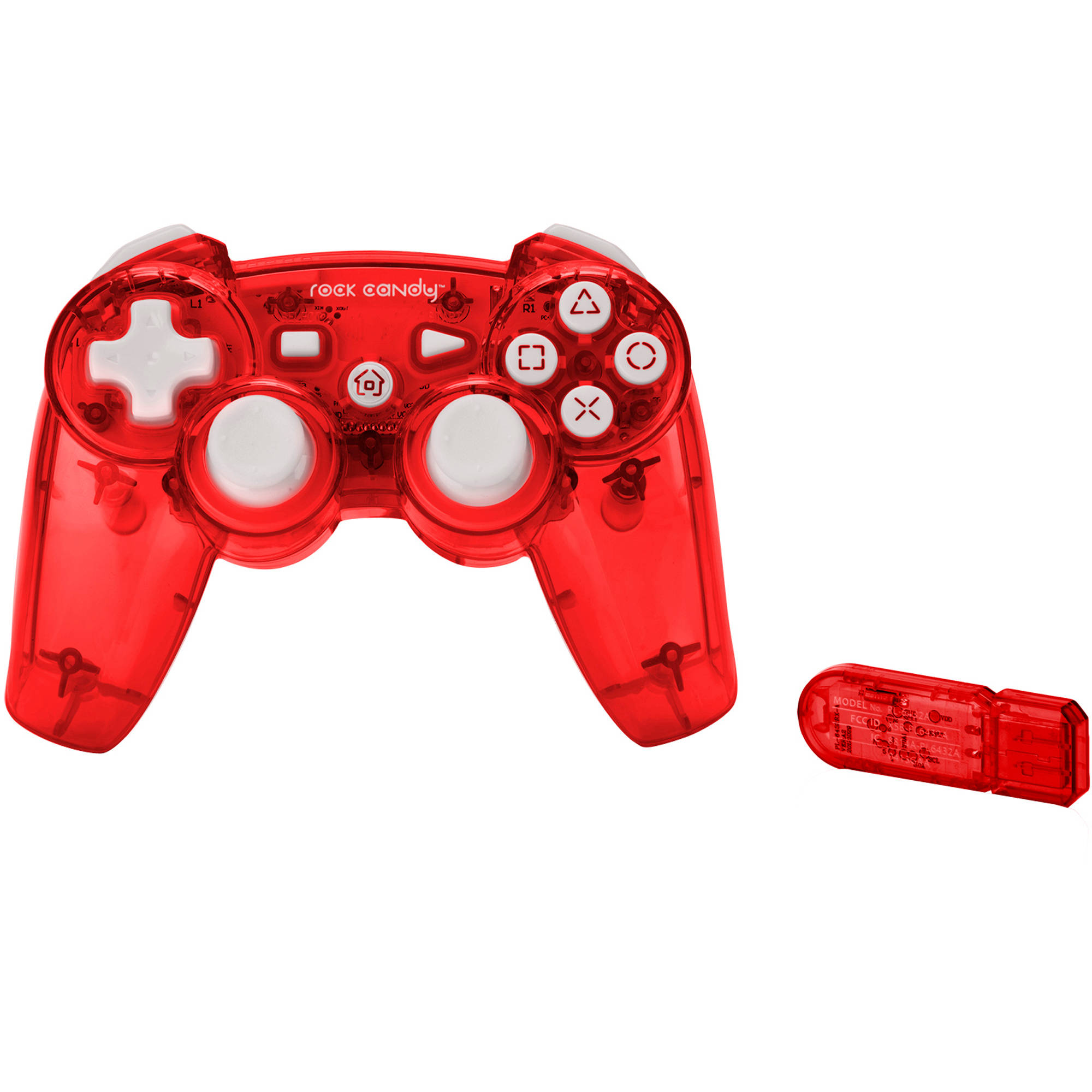 Rock Candy Wireless Controller, Red (PS3)