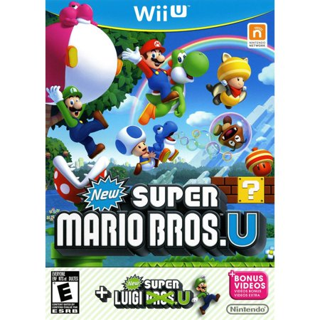 New Super Mario Bros. U + New Super Luigi U (Wii U) - (Mario And Luigi Superstar Saga Wii U)