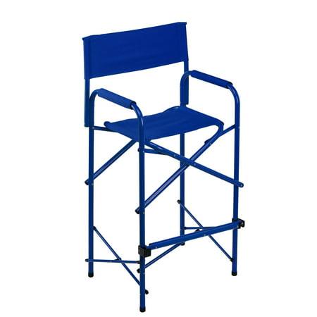 E-Z UP® Directors Chair, Tall, Blue ()