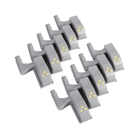 10Pcs Warm/Cool White Universal Cabinet Cupboard Closet Wardrobe LED Hinge Light Home Kitchen,Hinge Light, Closet Hinge Led