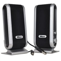 iMicro 2.0-Channel USB 2.0 Multimedia Speaker System, Black