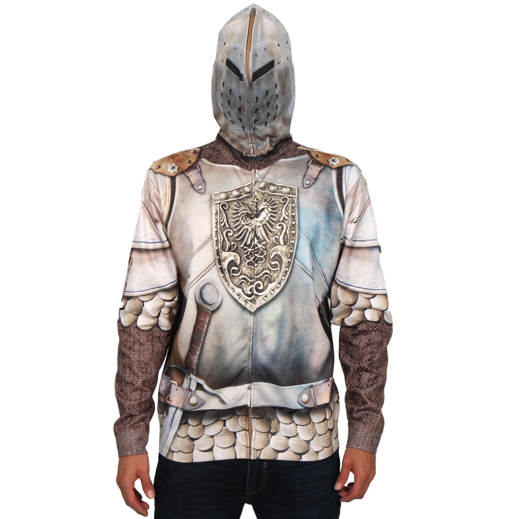 Creative Apparel Knight Mask Hoodie Men's Long Sleeve Ful...