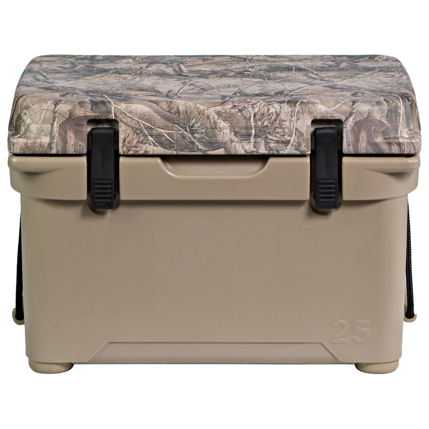 Engel 25 DeepBlue Roto-Molded High-Performance Cooler in Tan with Camo Lid