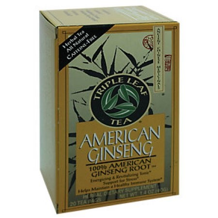 Triple Leaf Tea Chinese Medicinal Tea-American Ginseng Triple Leaf Tea 20 Bag
