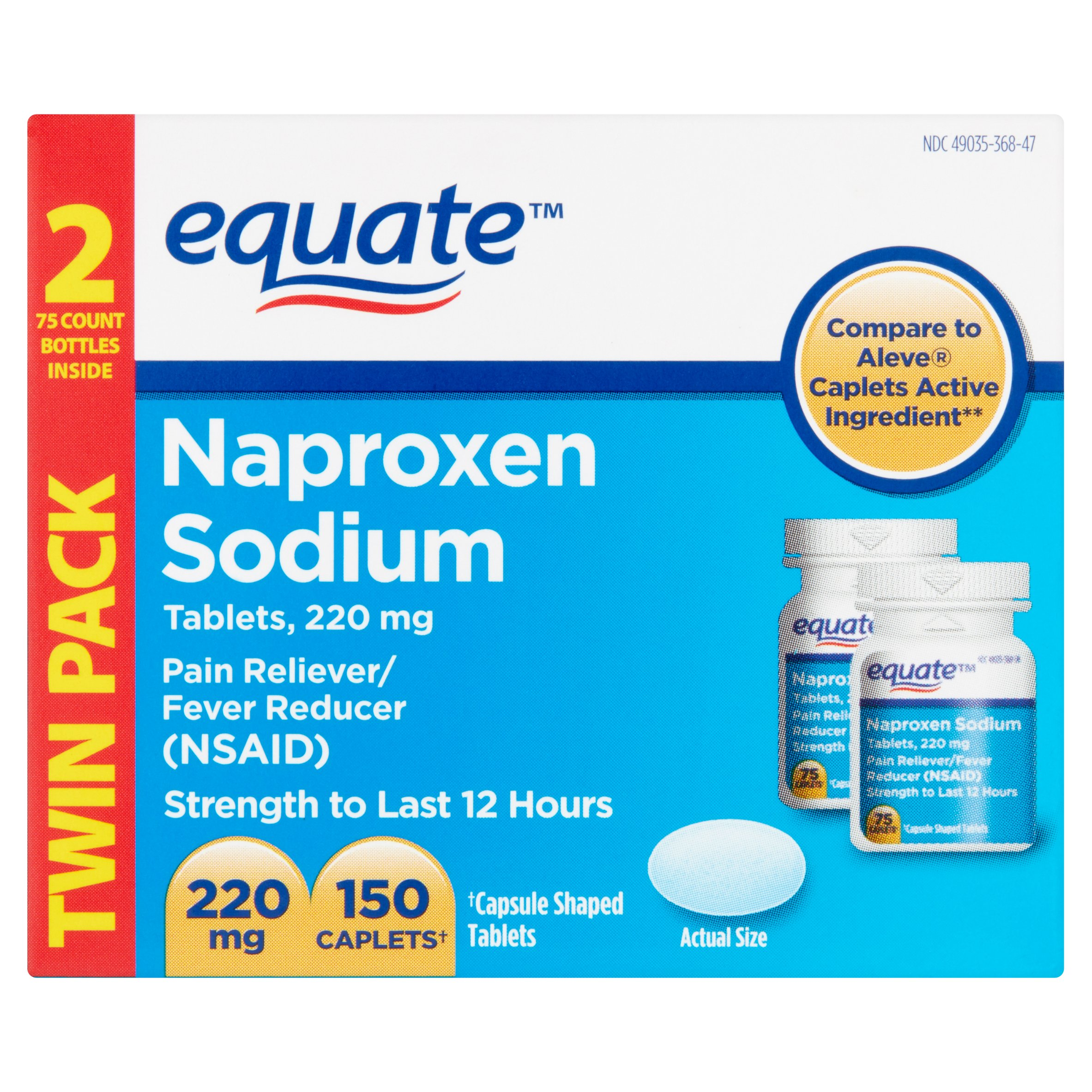 Naproxen 40 mg.doc - Equate Naproxen Sodium Pain Reliever Fever Reducer Caplets 220 Mg 75 Ct