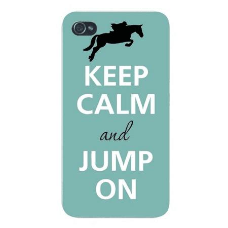 Apple Iphone Custom Case 5 / 5s White Plastic Snap on - Keep Calm and Jump On Jockey & Horse](Plastic Lawn Jockey)