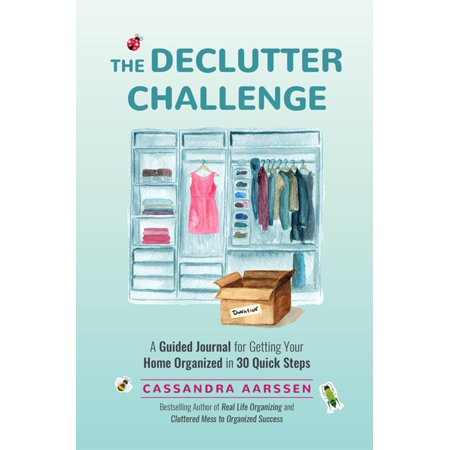 The Declutter Challenge - eBook #1 Best Seller in Home Improvement & Decorating and Personal Time Management  Declutter Your Way to HappinessA guided decluttering journal. Life happens to the best of us, whether we were born with messy tendencies or not. Messes find their way into our homes and lives and we cant seem to find the strength or time to tackle them. Thats where this motivational guided journal by Cassandra Aarssen, best-selling author of Real Life Organizing and Cluttered Mess to Organized Success, comes in.Tested methods that work. Cas Aarssen wasnt always an organization expert. She climbed out of years of cluttered living and transformed her home and her life through organization. In this self-help journal, Cas guides you through favorite tips and tricks that she used to declutter her home and find her way to a more organized and peaceful life.Pages and pages of decluttering and organizational tools. This interactive journal is designed to help you declutter your home and life through mindfulness and self-motivation. You will learn how to navigate the chaos of clutter by taking the time to understand yourself and the underlying meaning behind your clutter. Filled with inspiration and open-ended questions, The Declutter Challenge journal will guide you onto the path to a clean and clutter-free home.Make downsizing a reality. The Declutter Challenge enables you to work through both the emotion and the physical clutter in your life; to explore your thoughts and feelings about your belongings and discover the knowledge and strength to let go of excess.Take a look inside this life-changing guided journal and findInsights into goal settingSupportive prompts and writing exercises that encourage self-refection and understandingHow to achieve those short-term tasks that need to get done or the long-term dreams that you yearn to fulfillReaders of books such as The Home Edit or How to Manage Your Home Without Losing Your Mind will love Cassandra Aarssens The Dec