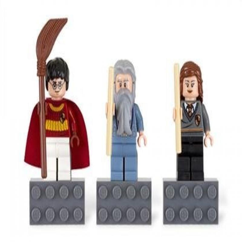 Lego Harry Potter Minifigure Magnet Set 852982 Harry Potter, Professor Dumbledore, and Hermione Granger by