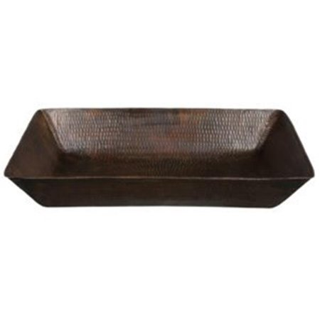 Premier Copper Products VREC2014DB 20 in. Rectangle Vessel Hammered Copper Sink - image 2 de 2