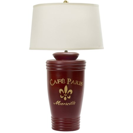 Fangio Lighting S Mr8790r 31 Red And Gold Ceramic Table Lamp