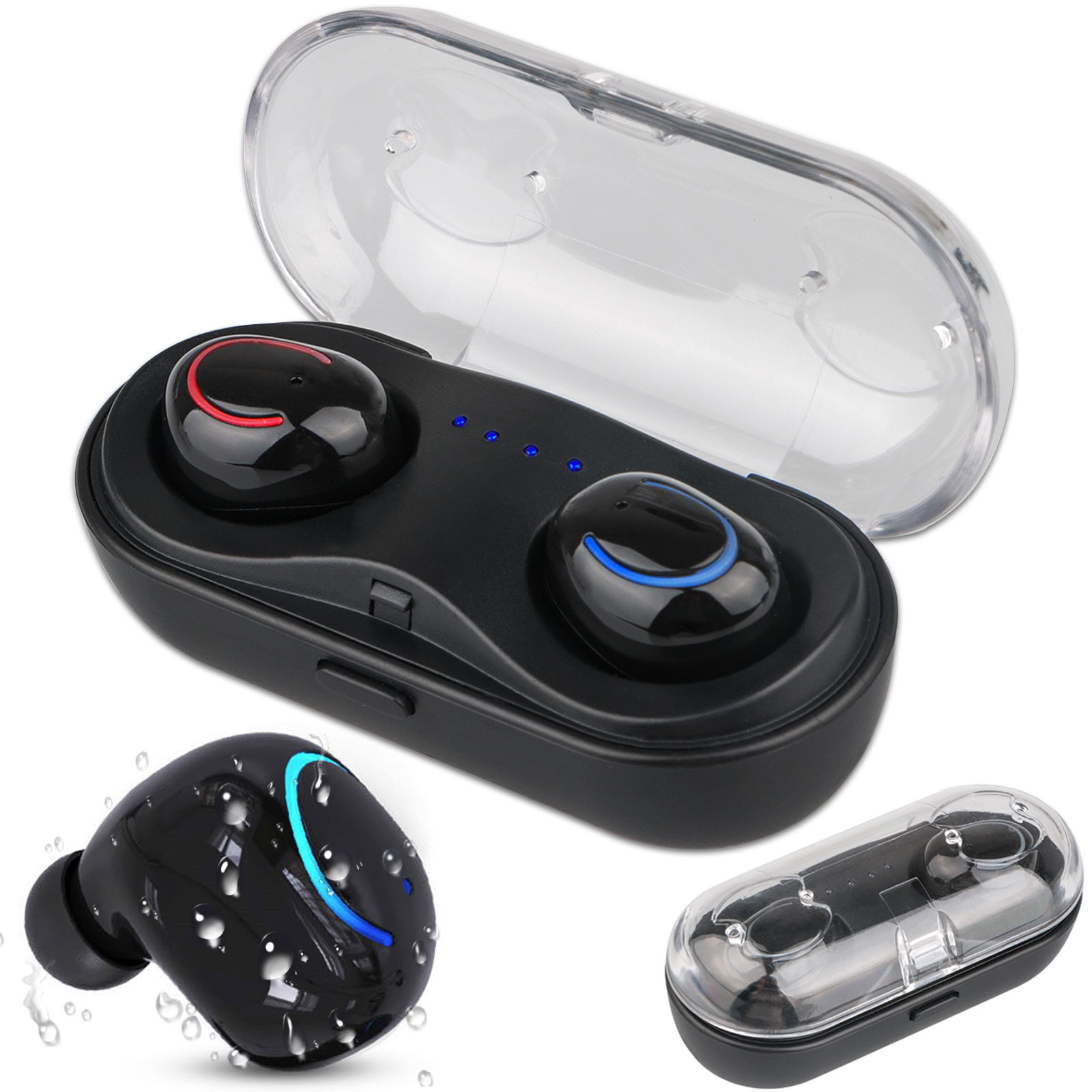 Mini Wireless TWS Earbuds, Bluetooth V4.2+ EDR Earphone Smallest Wireless Invisible Headphone, Noise Cancelling Stereo Surround Headset, for iPhone and Android Smart Phones