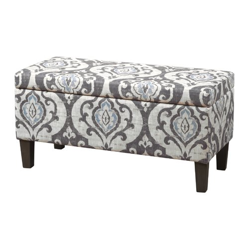 HomePop Severine Upholstered Storage Ottoman