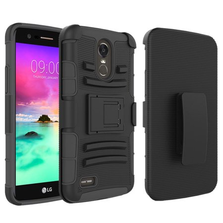 - LG Stylo 3 Case, Mignova Rugged Plastic Heavy Duty Armor Holster Defender Full Body Protective Hybrid Case Cover with Kickstand and Belt Swivel Clip for LG Stylo 3 Smart Cell Phone (Black)