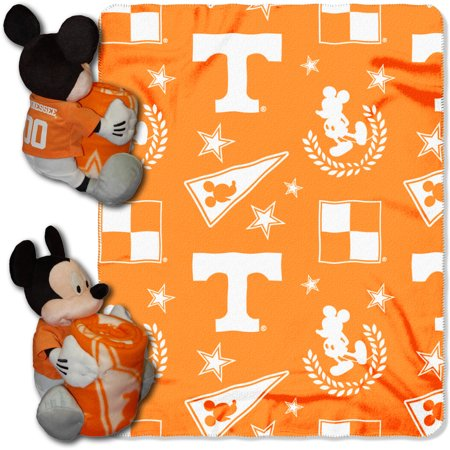 Official NCAA and Disney Cobrand Tennessee Volunteers Mickey Mouse Hugger Character Shaped Pillow and 40