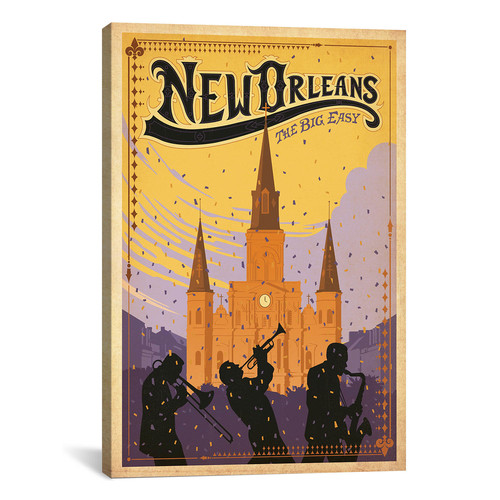 iCanvas Anderson Design Group 'New Orleans, Louisiana' Vintage Advertisement on Canvas