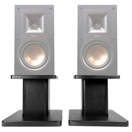 "(2) 8"" Black Bookshelf Speaker Stands For Klipsch R-15M Bookshelf Speakers (Klipsch Audio Speakers)"