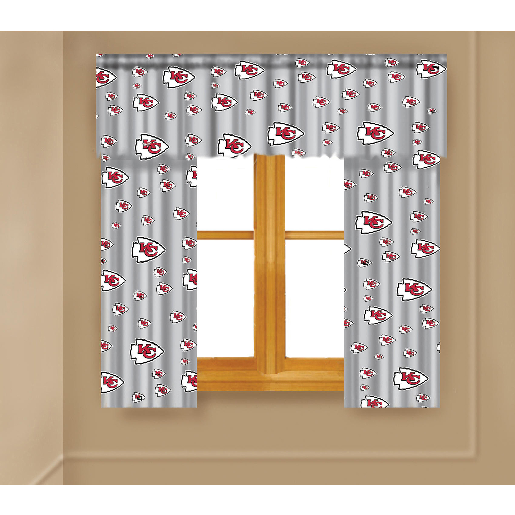 NFL Kansas City Chiefs Window Curtain Panels