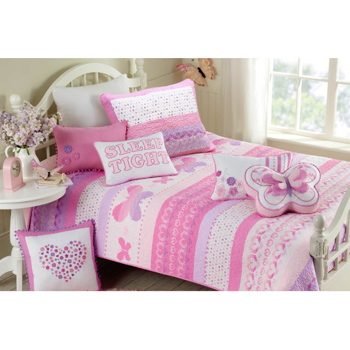 Cozy Line Home Fashion Butterfly Fairisle Quilt Set