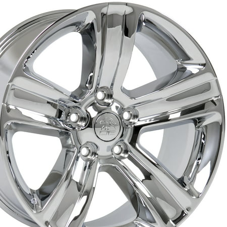 OE Wheels - 20 inch Wheel - Fits Dodge Dakota, Durango, Ram 1500, Chrysler Aspen  - RAM 1500 Night Edition Style Chrome Rim, Hollander 2453, 20x9 (24 Inch Rims Dodge Ram 1500)