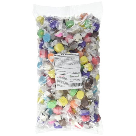 Sweets Salt Water Taffy, Assorted Flavors, 3 Pound (Ingredients In Salt Water Taffy)