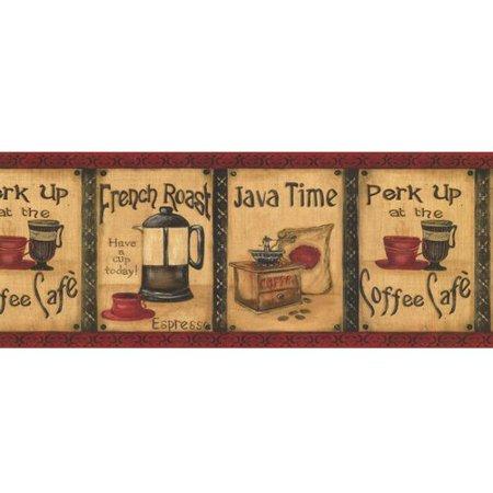 York Wallcoverings Book Java Time 15' x 10.25'' Wallpaper (Java Wallpaper)