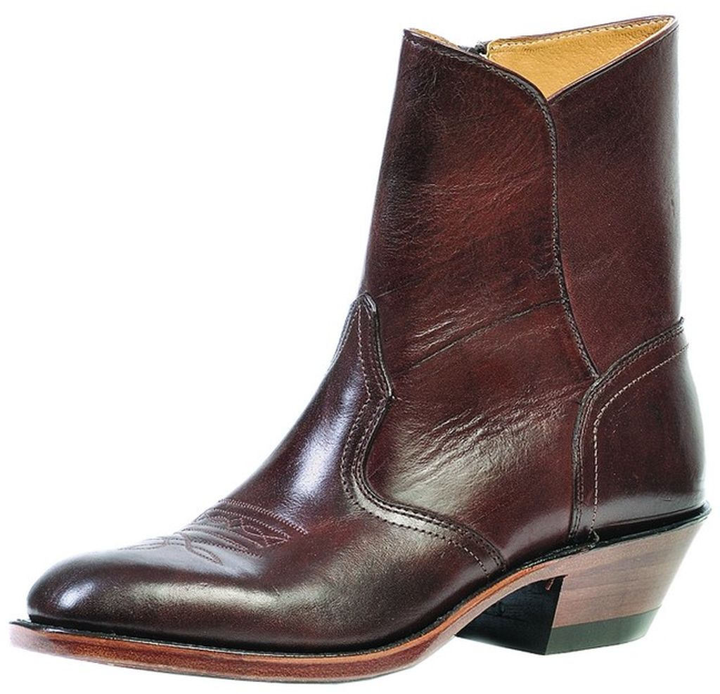 Boulet Western Boots Mens Cowboy Leather Zip Ankle Ranch ...