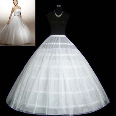 Halter Petticoat - Zimtown 3Hoop 2Layer wedding dress petticoat Crinoline Underskirt bridal Gown White