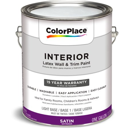 color place interior satin light base 1 gallon