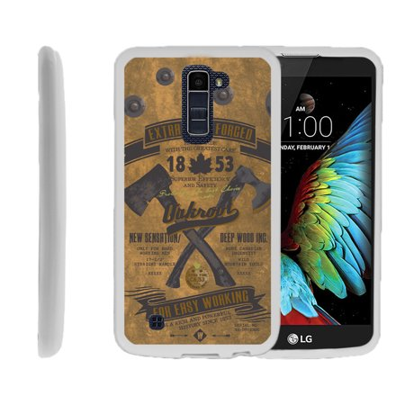 LG K10, LG Premier LTE, K430, Flexible Case [FLEX FORCE] Slim Durable TPU Sleek Bumper with Unique Designs - Vintage Axe Tag